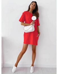 Φόρεμα - κώδ. 7236 - κόκκινο