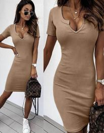 Φόρεμα - κώδ. 2202 - καπουτσίνο