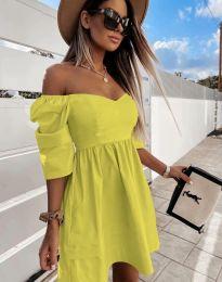 Φόρεμα - κώδ. 7413 - κίτρινο