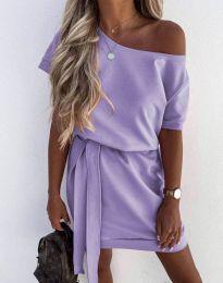 Φόρεμα - κώδ. 6737 - ανοιχτό μωβ