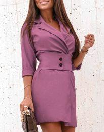 Φόρεμα - κώδ. 1357 - μωβ