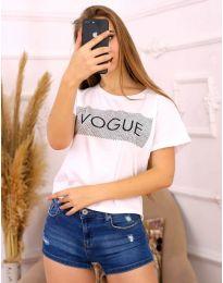 Κοντομάνικο μπλουζάκι - κώδ. 3539 - λευκό