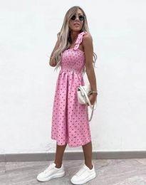 Φόρεμα - κώδ. 4535 - ροζ