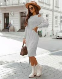 Φόρεμα - κώδ. 8203 - γκρι