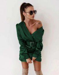 Φόρεμα - κώδ. 0659 - σκούρο πράσινο
