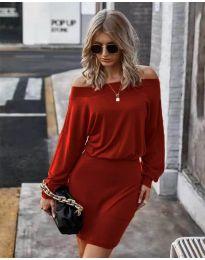Φόρεμα - κώδ. 4447 - κόκκινο