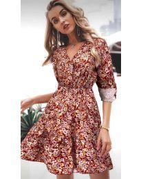 Φόρεμα - κώδ. 979 - 5 - πολύχρωμο