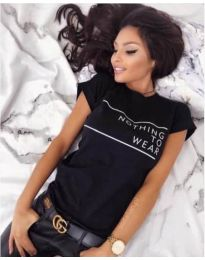 Κοντομάνικο μπλουζάκι - κώδ. 3587 - μαύρο