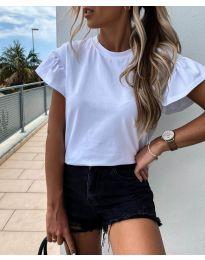 Κοντομάνικο μπλουζάκι - κώδ. 520 - λευκό
