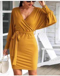 Φόρεμα - κώδ. 1197 - μουσταρδί