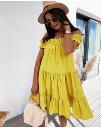 Φόρεμα - κώδ. 805 - κίτρινο