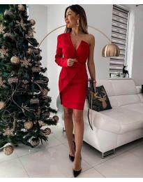 Φόρεμα - κώδ. 15944 - 3 - κόκκινο