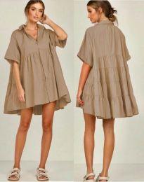 Φόρεμα - κώδ. 6464 - καπουτσίνο