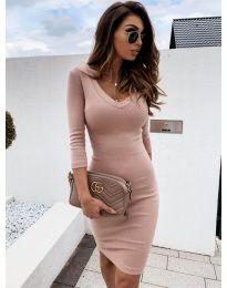 Φόρεμα - κώδ. 4040 - πούδρα