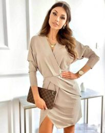 Φόρεμα - κώδ. 2058 - μπεζ