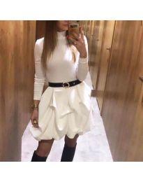 Φόρεμα - κώδ. 8380 - λευκό