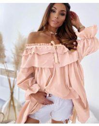 Φόρεμα - κώδ. 9865 - ροζ