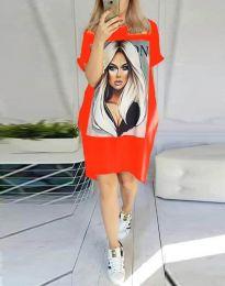 Φόρεμα - κώδ. 2766 - κόκκινο