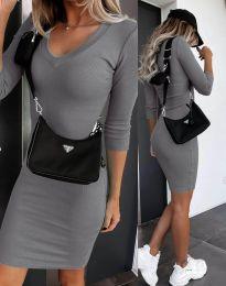 Φόρεμα - κώδ. 7592 - γκρι