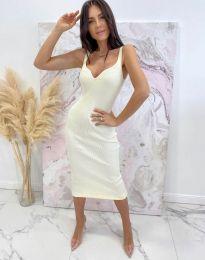 Φόρεμα - κώδ. 10033 - λευκό