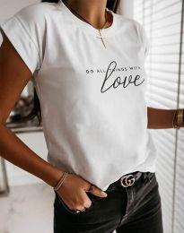 Κοντομάνικο μπλουζάκι - κώδ. 2931 - λευκό