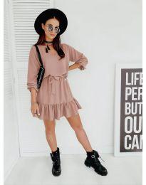 Φόρεμα - κώδ. 4146 - ροζ