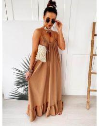 Φόρεμα - κώδ. 2218 - καφέ