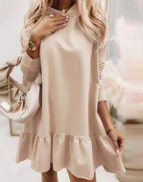 Φόρεμα - κώδ. 9376 - μπεζ