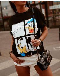 Κοντομάνικο μπλουζάκι - κώδ. 964 - 1 - μαύρο