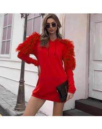Φόρεμα - κώδ. 6383 - κόκκινο