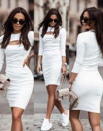 Φόρεμα - κώδ. 7376 - 1 - λευκό