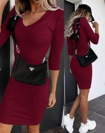 Φόρεμα - κώδ. 7592 - μπορντό
