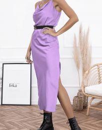 Φόρεμα - κώδ. 6231 - ανοιχτό μωβ