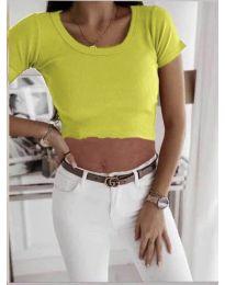 Κοντομάνικο μπλουζάκι - κώδ. 530 - νέον κίτρινο