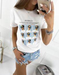 Κοντομάνικο μπλουζάκι - κώδ. 4341 - λευκό