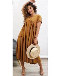 Φόρεμα - κώδ. 4475 - καφέ