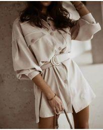 Φόρεμα - κώδ. 6461 - μπεζ