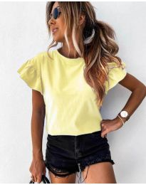 Κοντομάνικο μπλουζάκι - κώδ. 520 - κίτρινο