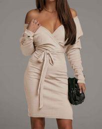 Φόρεμα - κώδ. 4765 - μπεζ