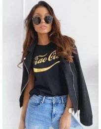 Κοντομάνικο μπλουζάκι - κώδ. 3659 - μαύρο