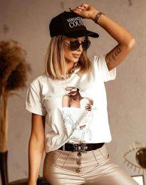 Κοντομάνικο μπλουζάκι - κώδ. 1533 - λευκό