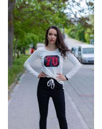Κοντομάνικο μπλουζάκι - κώδ. 987 - λευκό