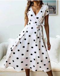 Φόρεμα - κώδ. 4757 - 1 - λευκό