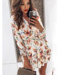 Φόρεμα - κώδ. 5514 - 2 - λευκό