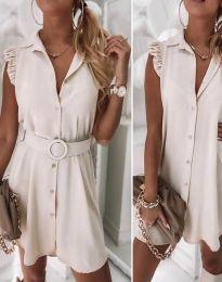 Φόρεμα - κώδ. 7411 - μπεζ