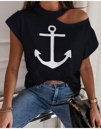 Κοντομάνικο μπλουζάκι - κώδ. 206 - μαύρο