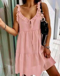 Φόρεμα - κώδ. 2540 - ροζ