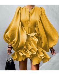 Φόρεμα - κώδ. 2819 - κίτρινο