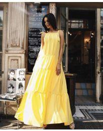 Φόρεμα - κώδ. 1105 - κίτρινο