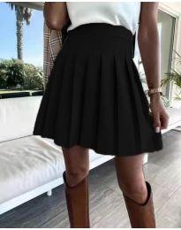 Кокетна плисирана пола в черно - код 8116